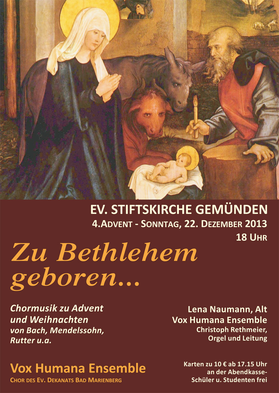 Zu Bethlehem geboren 2013