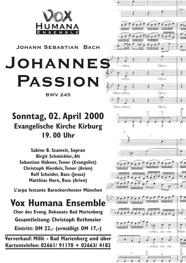 Johannes-Passion 2000