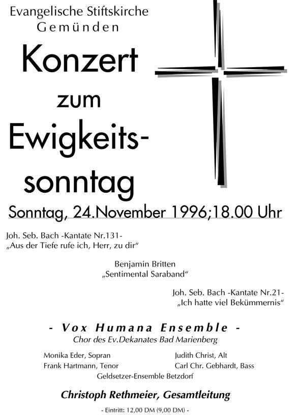 Ewigkeitssonntag 1996