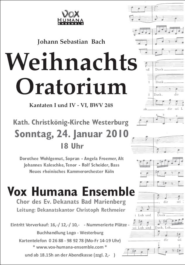 Weihnachtsoratorium 2010